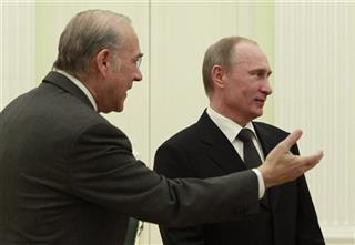 Vladimir Putin, Angel Gurria 