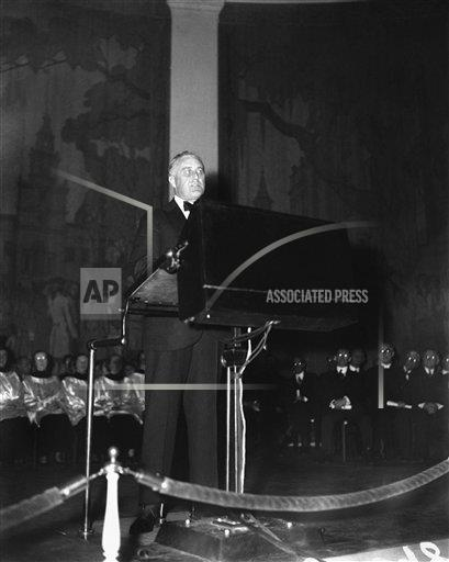 Watchf Associated Press Domestic News  Dist. of Col United States APHS128387 FDR Speaks To Council Of Churches 1933