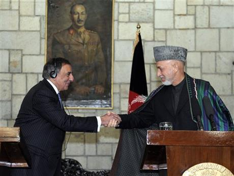 Leon Panetta, Hamid Karzai