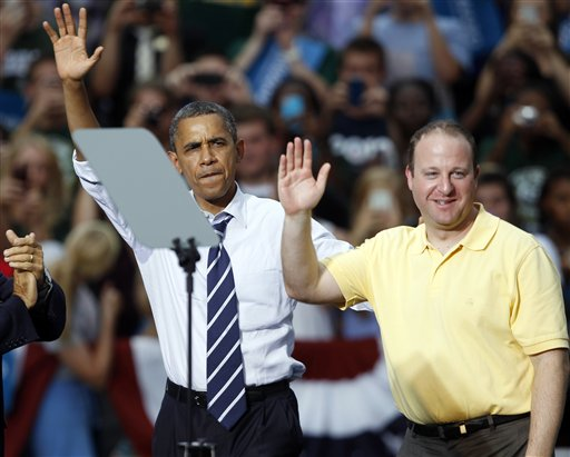 Barack Obama, Jared Polis