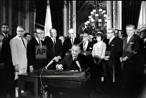 Associated Press Domestic News Dist. of Columbia United States JOHNSON VOTING RIGHTS ACT 1965