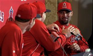 Josh Hamilton, Albert Pujols, Mike Trout