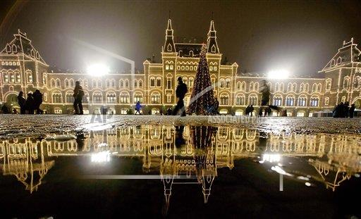 Associated Press International News Russian Federation APTOPIX RUSSIA NEW YEAR DECORATIONS