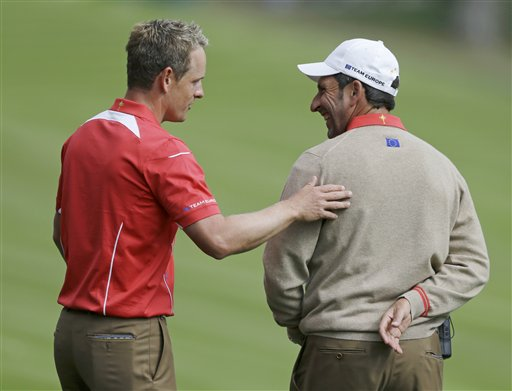 Jose Maria Olazabal, Luke Donald