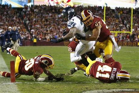 Seahawks Redskins Football
