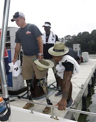 Fishing With the Falcons Football