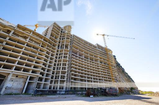 Montenegro, Petrovac, ruin, unfinished building, Hotel As