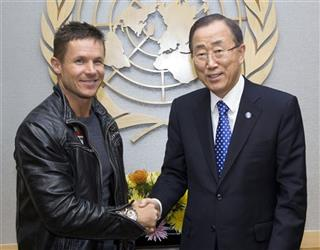 Ban Ki-moon, Felix Baumgartner