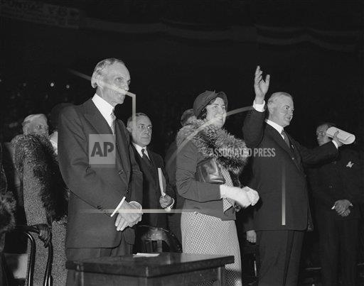 Watchf Associated Press Domestic News Election campaigns Michigan United States APHS124659 Herbert Hoover In Detroit 1932