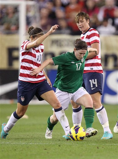 Shannon Smyth, Carli Lloyd, Abby Wambach
