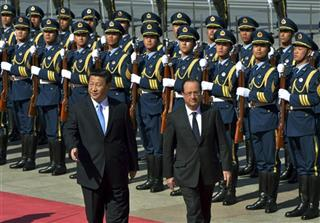 Xi Jinping, Francois Hollande