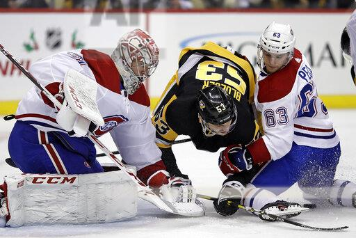 APTOPIX Canadiens Penguins Hockey