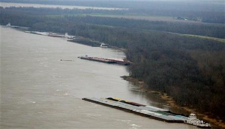 Oil Barges Hit Bridge