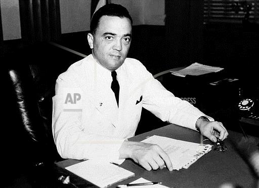 Watchf Associated Press Domestic News  Dist. of Col United States APHS58201 FBI J EDGAR HOOVER 1936