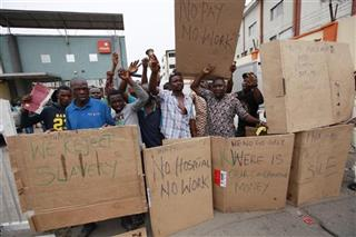 Nigeria Newspaper Protest