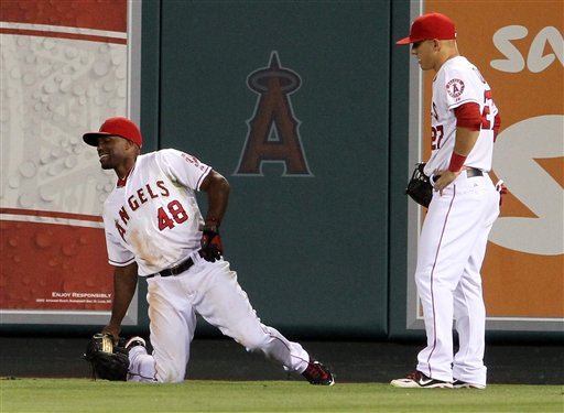 Torii Hunter, Mike Trout