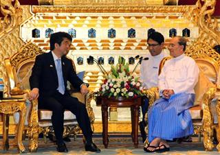 Thein Sein, Shinzo Abe