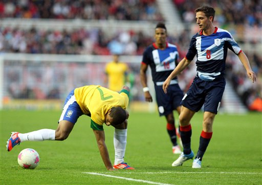 Britain Olympic Soccer Great Britain Brazil