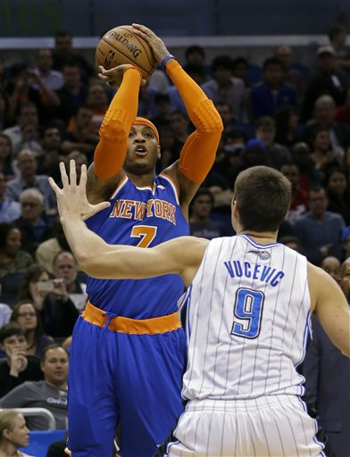 Carmelo Anthony, Nikola Vucevic