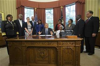 "Barack Obama, Terri Sewell, Spencer Bachus, Regina Benjamin, Mayor William Bell, Sharone Malone, Eric Holder, Terri Sewell, Thelma ""Maxine"" Pippen McNair,  Dianne Braddock, Arthur Price Jr, Gordon Douglas Jones,"