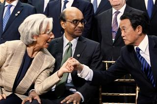 Christine Lagarde, Tharman Shanmugaratnam, Taro Aso