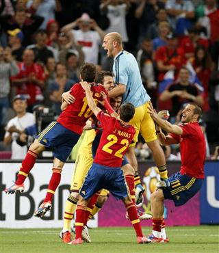 Soccer Euro 2012 Spain Portugal