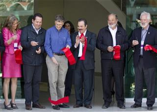 Sara Boettiger, Eruviel Avila, Bill Gates, Enrique Martinez, Carlos Slim, Thomas Lumpkin