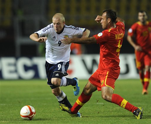 Noveski in action for Macedonia; photo: ap.org