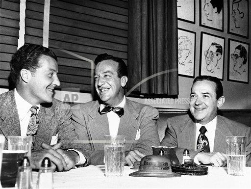 Watchf AP A  CA USA APHS260359 U.S. Three Top Band Leaders,  Posing  Brown Derby Restaurant