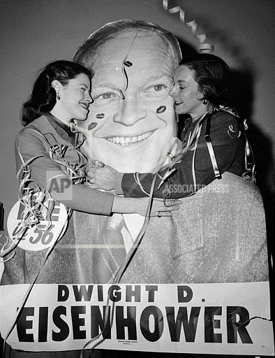 Watchf Associated Press Domestic News Election campaigns New York United States APHS117789 Eisenhower Second Term 1956