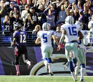 Jacoby Jones, Dan Bailey, Andre Holmes