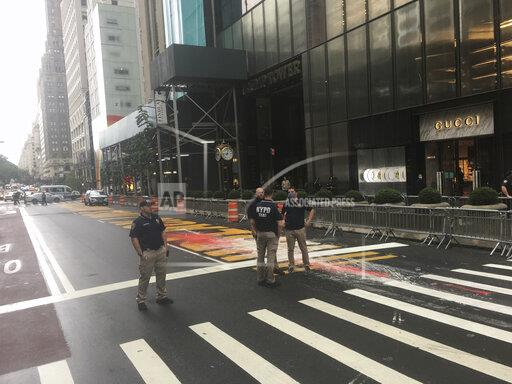 The BLM Mural at Trump Tower continues to be vandalized