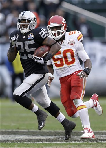 Mike Goodson, Justin Houston