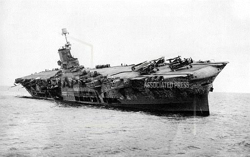 Associated Press International News At Sea WWII ARK ROYAL TORPEDO ATTACK