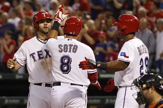 Geovany Soto, Mitch Moreland, Adrian Beltre
