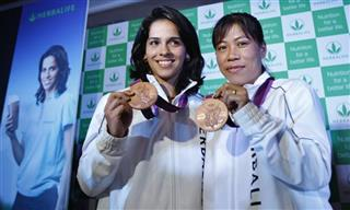 Saina Nehwal, MC Mary Kom
