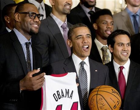 Barack Obama, LeBron James, Erik Spoelstra