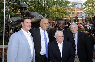 Cal RIpken, Jr., Jim Palmer, Earl Weaver, Eddie Murray, Brooks Robinson