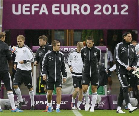 Soccer Euro 2012 Training Germany