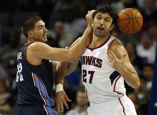 Byron Mullens, Zaza Pachulia