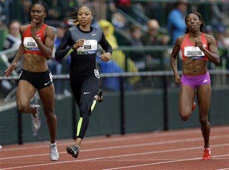 Joanna Atkins, Allyson Felix, Tiffany Townsend