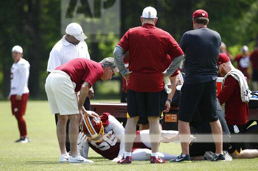 Redskins Foster Injured Football