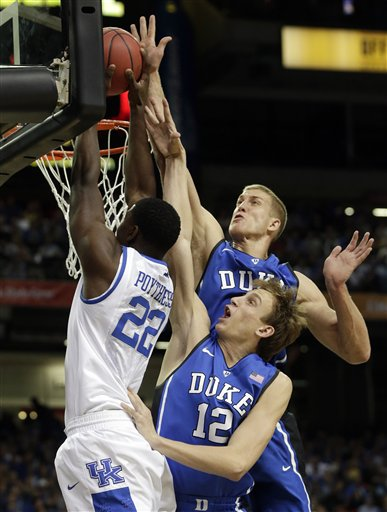 Mason Plumlee, Alex Murphy, Alex Poythress