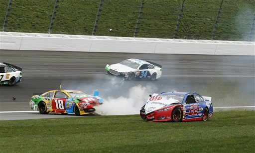 Kyle Busch, Joey Logano, David Ragan
