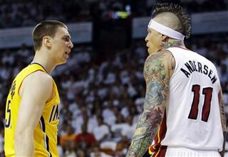 Tyler Hansbrough, Chris Andersen