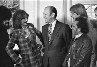 George Harrison, Billy Preston, Ravi Shankar, Gerald R. Ford, Jack Ford