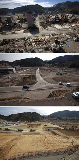 Japan Tsunami Then and Now Photo Essay