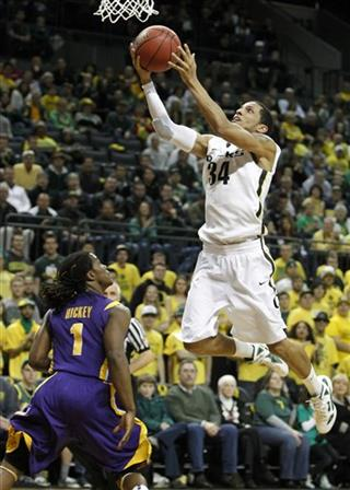 NIT LSU Oregon Basketball