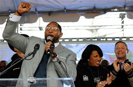 Ray Lewis, Stephanie Rawlings-Blake, Martin O'Malley