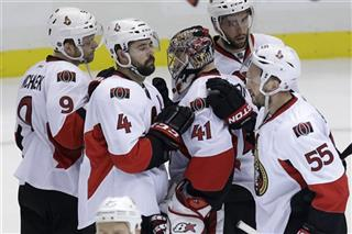 Craig Anderson, Sergei Gonchar, Chris Phillips, Jared Cowen, Milan Michalek